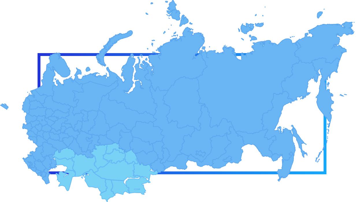 Карта наших доставок - вся Россия и Казахстан!